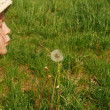 The girl and the dandelion 041 — Stock Photo