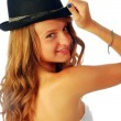 Stock Photo: Womwith Hat 119