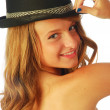Stock Photo: Womwith Hat 122