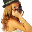 Stock Photo: Womwith Hat 124