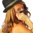 Stock Photo: Womwith Hat 127