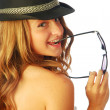 Stock Photo: Womwith Hat 128