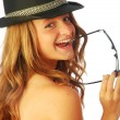 Stock Photo: Womwith Hat 129