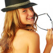 Stock Photo: Womwith Hat 130