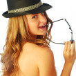 Stock Photo: Womwith Hat 131