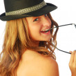 Stock Photo: Womwith Hat 132
