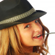 Stock Photo: Womwith Hat 133