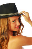 Woman with Hat 114 — Stock Photo