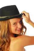 Woman with Hat 116 — Stock Photo