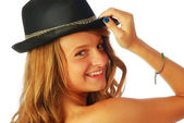 Woman with Hat 118 — Stock Photo