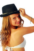 Woman with Hat 119 — Stock Photo
