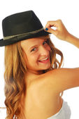 Woman with Hat 123 — Stock Photo