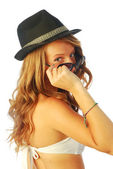 Woman with Hat 125 — Stock Photo