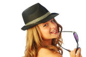 Woman with Hat 135 — Stock Photo