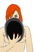Desnuda con sombrero — Foto de Stock