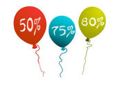 Advertising balloons — Stock Photo