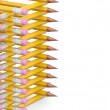 Pencil background. 3D render — Stock Photo
