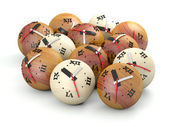 Time concept. Wooden sphere clocks — Stockfoto