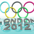 Stock Photo: Olympic games rings. London 2012