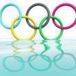 Stock Photo: Olympic games rings. 3D model