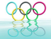 Olympic games rings. 3D model — Stock Photo
