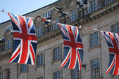Union Jack flags — Foto de Stock