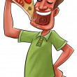 Eating pizza — Stock Photo #11117505