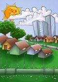 Pijpen in de stad — Stockfoto