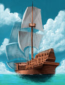 Galleon — Stockfoto