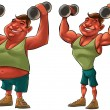 Fat and strong man — Stock Photo