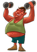 Hombre gordo — Foto de Stock