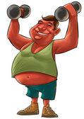Homem gordo — Foto Stock