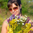 Young woman with flower — Stock Photo #11435828