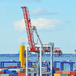 Port cargo crane - Stock Photo