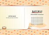 Chinese food menu — Stock Vector