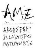 El yazısı mürekkep yazı tipi — Stok Vektör