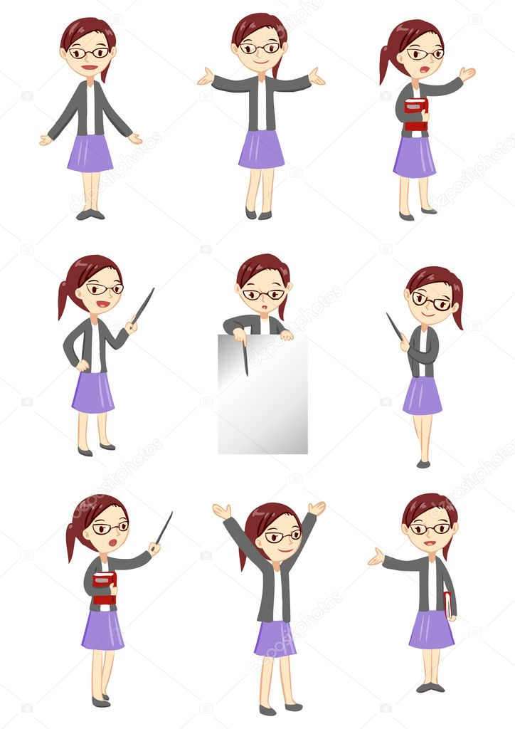 Female teacher display  Stock Vector #11604153
