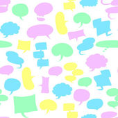Seamless speech bubbles — Stock Vector