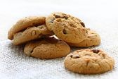 Chocolate and hazelnut cookies — Stock Photo