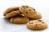 Chocolate and hazelnut cookies — Stock Photo
