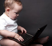 Little Baby Computer — Stock Photo