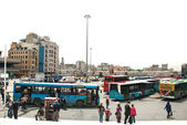 Taksim Square Bus Station — Stock Photo