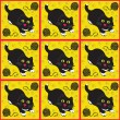 Black cats — Vector de stock
