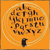 Calligraphy alphabet — Stock Vector