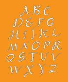 White alphabet — Vetor de Stock
