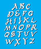 書道のアルファベット — ストックベクタ