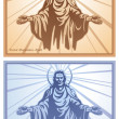 Stock Vector: Jesus Christ, blessing, Christianity