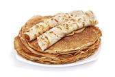 Hill of tasty pancakes — Stock Photo