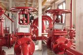 Industrial zone, valve pipelines — Stock Photo