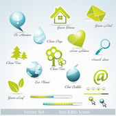 Eco related symbols and icons — Stock Vector